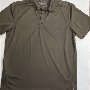Eddie Bauer Freedry Polyester 3 button polo